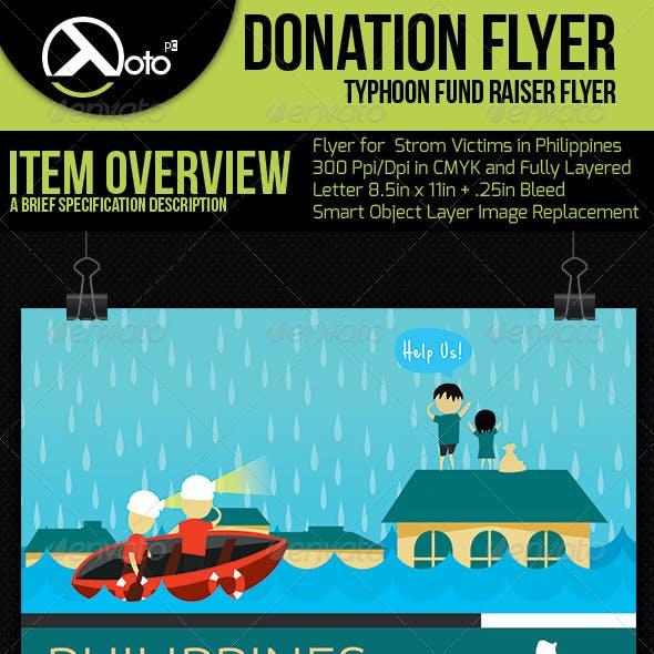 Typhoon Victim Donation Flyer