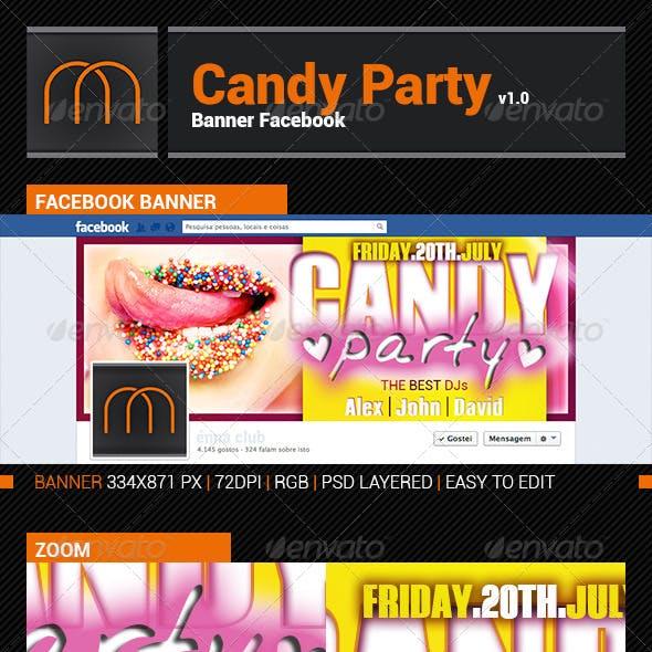 Candy Party v1.0 - Banner Facebook