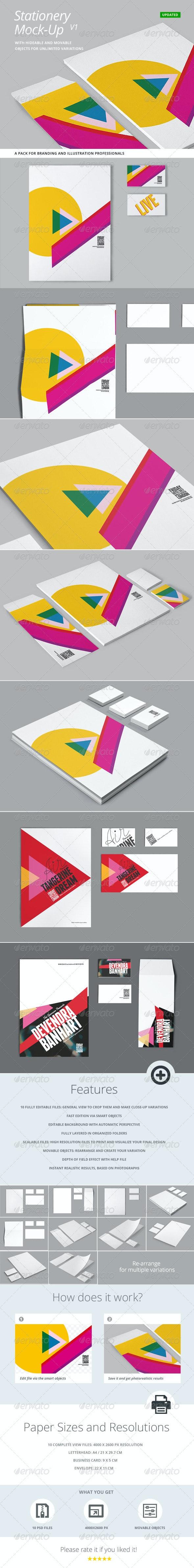Stationery and Branding Mock Up - Stationery Print