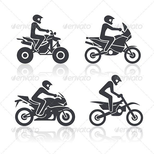 Motocycle Icons Set. Part 2