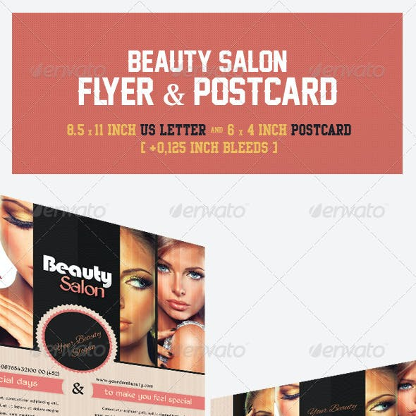 Beauty Salon Flyer & Postcard