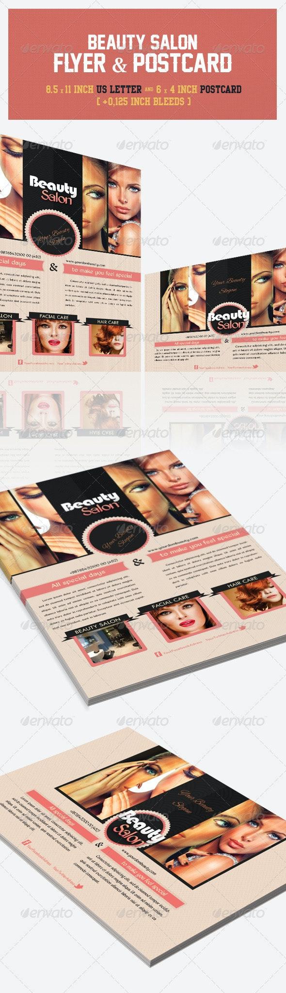 Beauty Salon Flyer & Postcard - Corporate Flyers