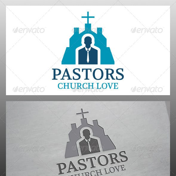 Pastor Church Logo Template
