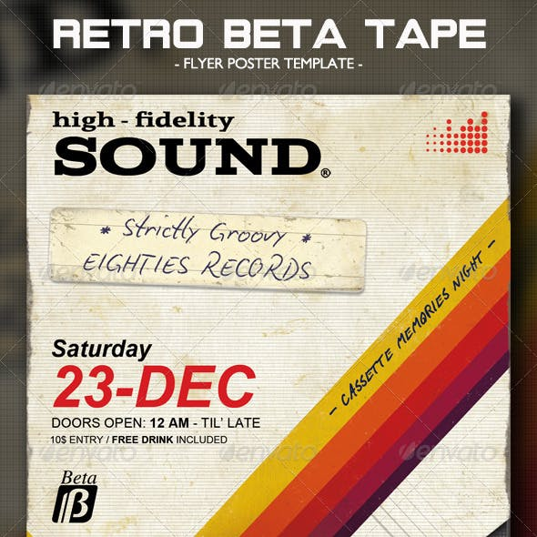 Retro Beta Tape Flyer/Poster