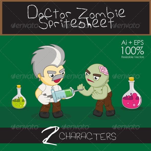 Doctor Zombie Spritesheet