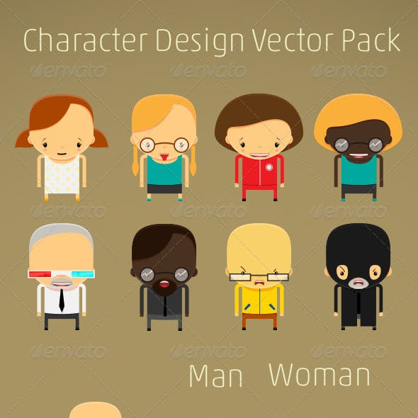 Character Design Creation Vector Kit