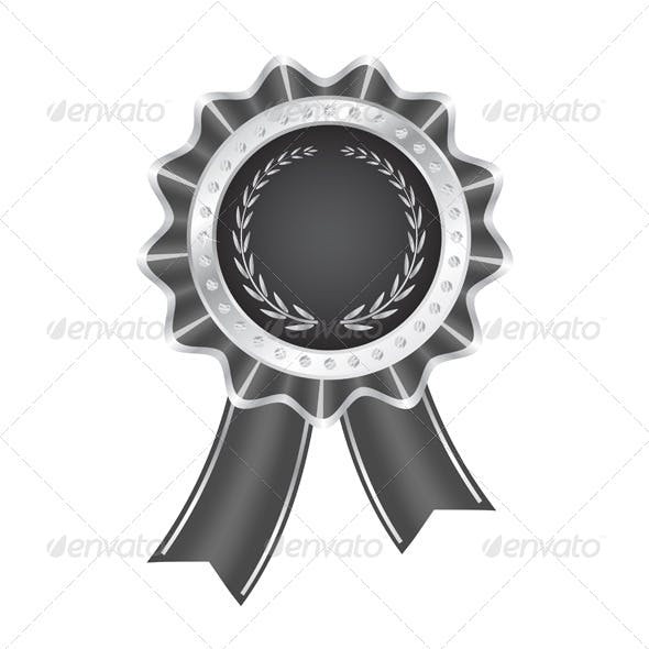 Gray Award Ribbon