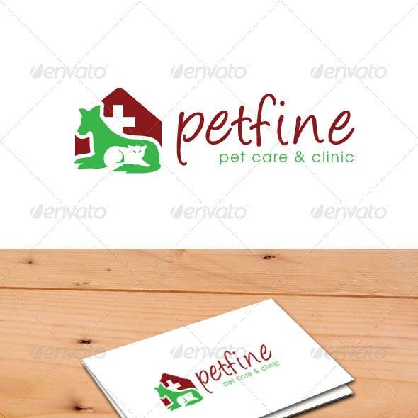 Pet Fine Logo template