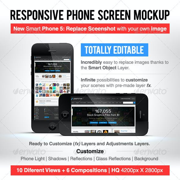 Responsive Phone Screen Mockup