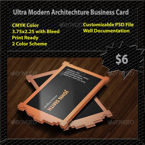 Ultra Modern Architechture Business Card