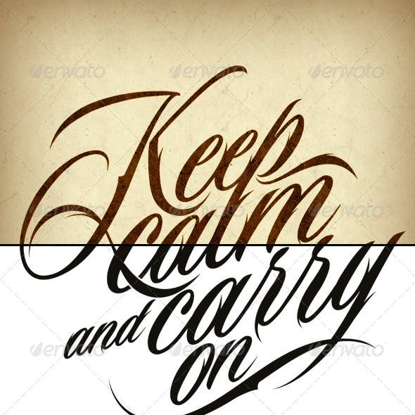 Tattoo Keep Calm and Carry On
