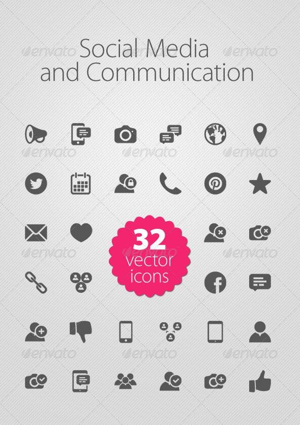 Social Media and Communication - Media Icons