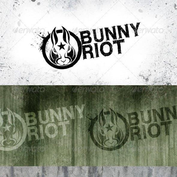 Bunny Riot Logo Template