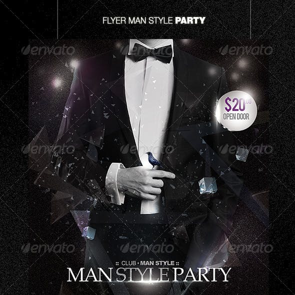 Flyer Man Style Party