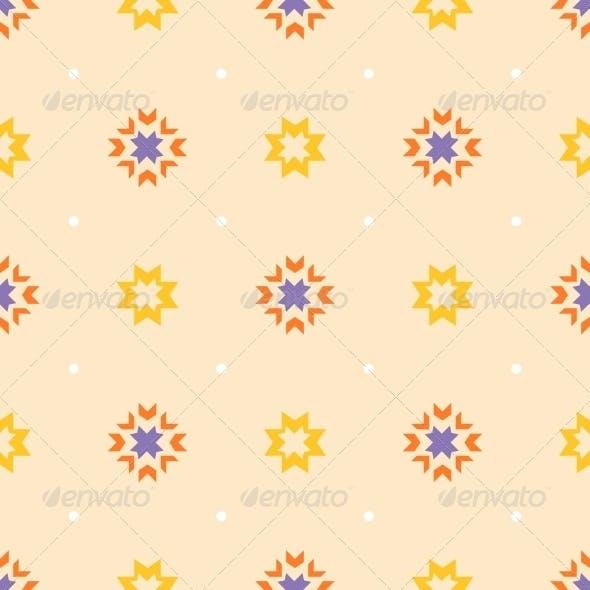 Abstract Geometric Seamless Ornament Pattern.