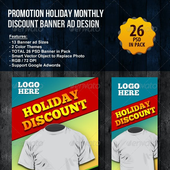 Promotion Holiday Monthly Discount Banner ad