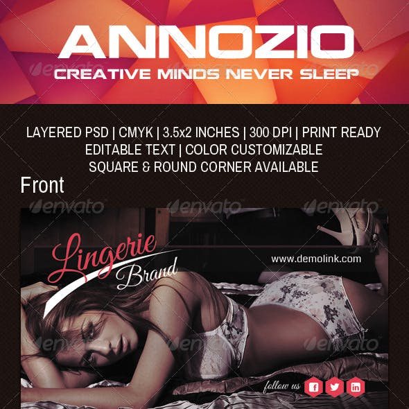Lingerie Brand Business Card  AN0033