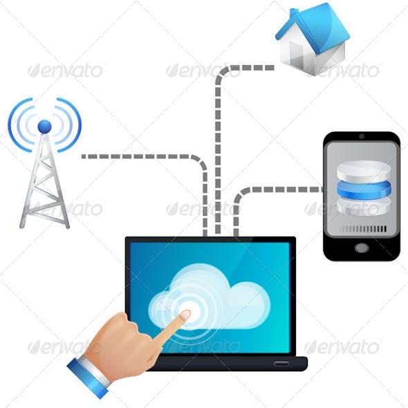 Seamless Cloud technology - Illustration
