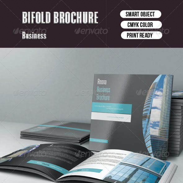Square Bifold Business Brochure -10 pages