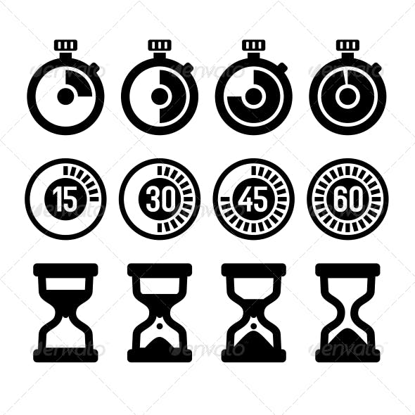 Timers Icons Set
