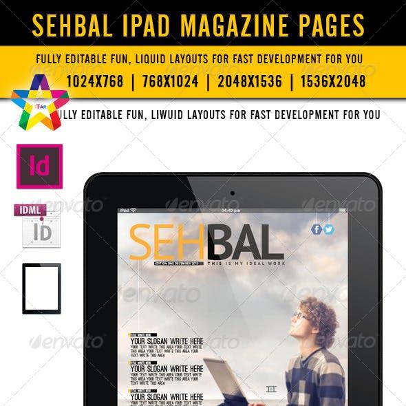 Sehbal iPad Magazine Pages