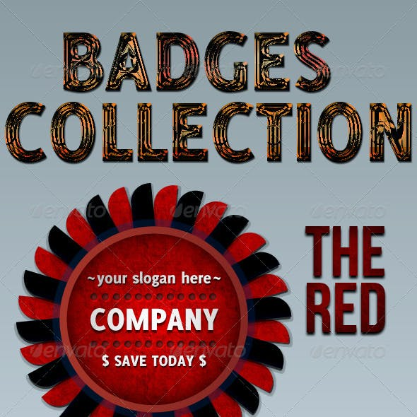 Modern Badge Collection of 4