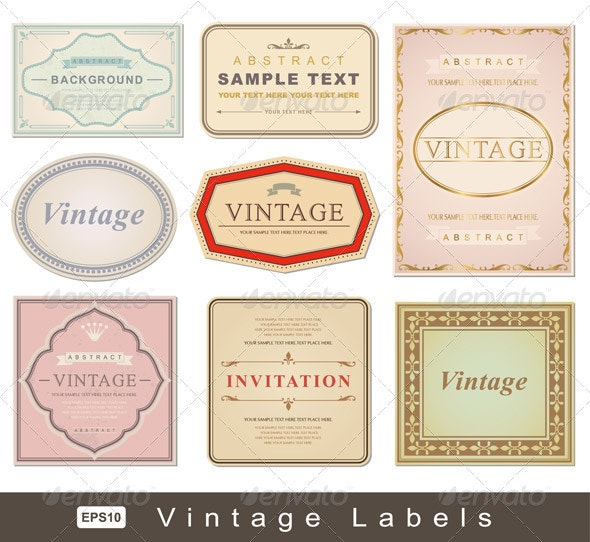 Vintage Labels - Decorative Vectors