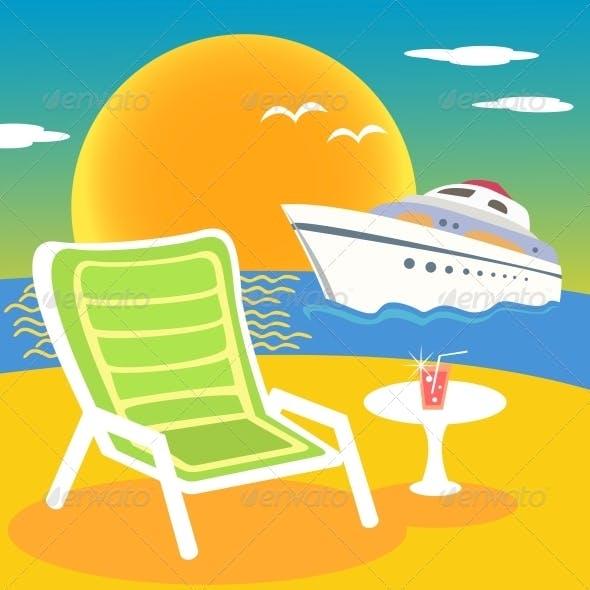 Sea, Beach and Yacht