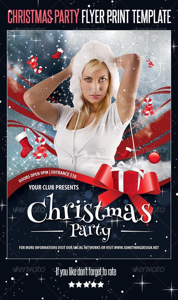 Christmas Party Flyer Print Template - Events Flyers