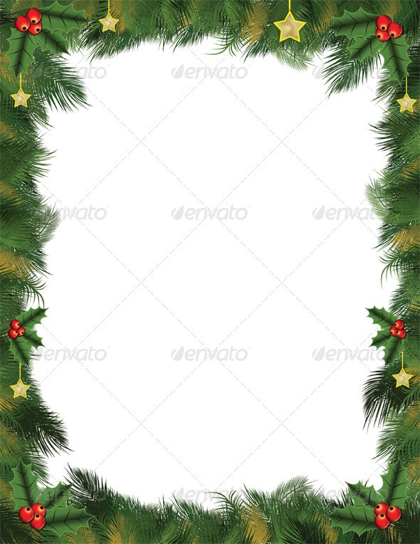 Christmas Card Background.Green Christmas Card Background For Letters And Flyers