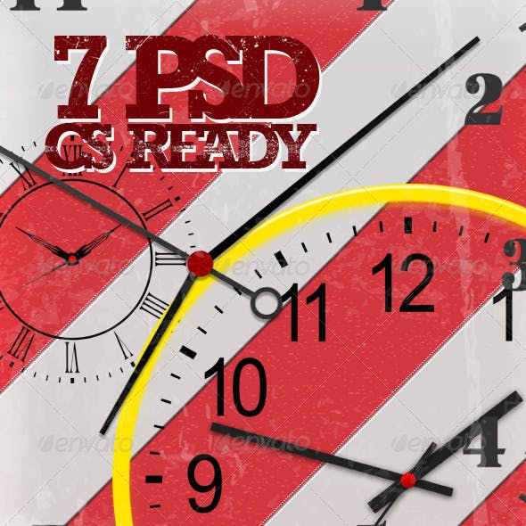 7 full layered PSD clocks