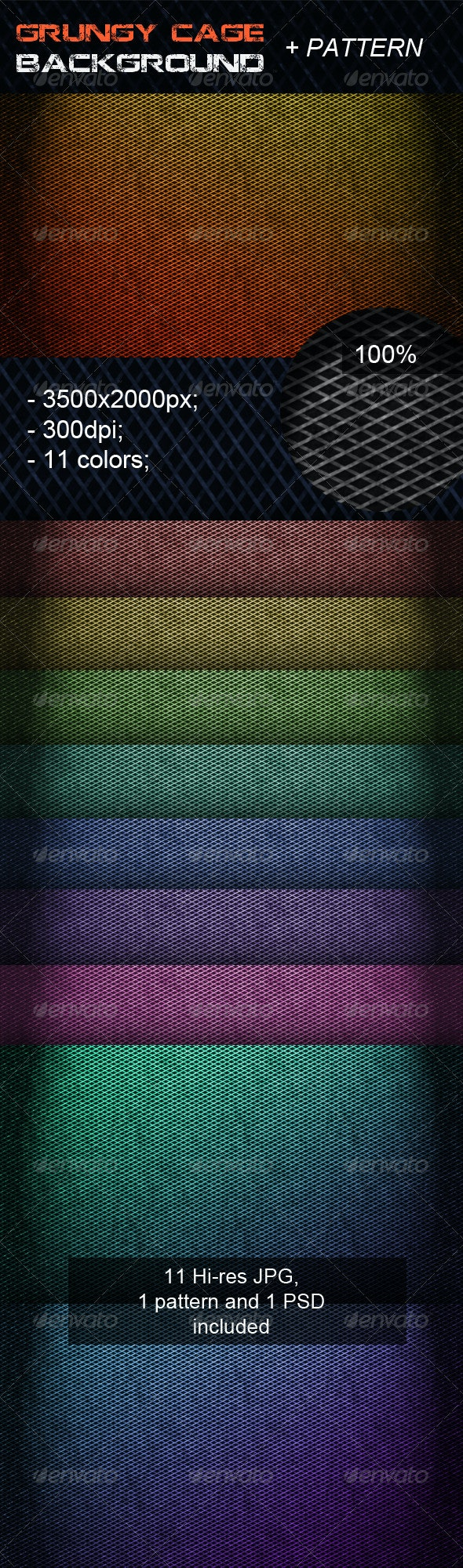 Grungy Cage Background - Patterns Backgrounds