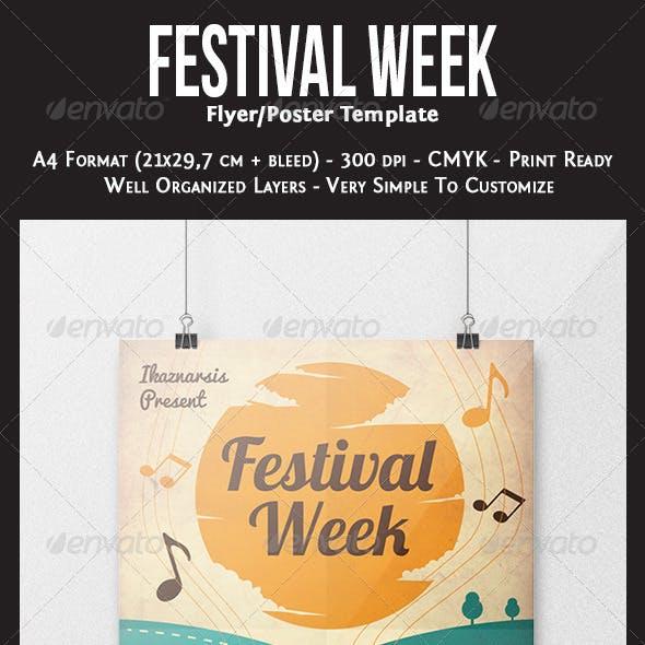 Festival Week Flyer Template