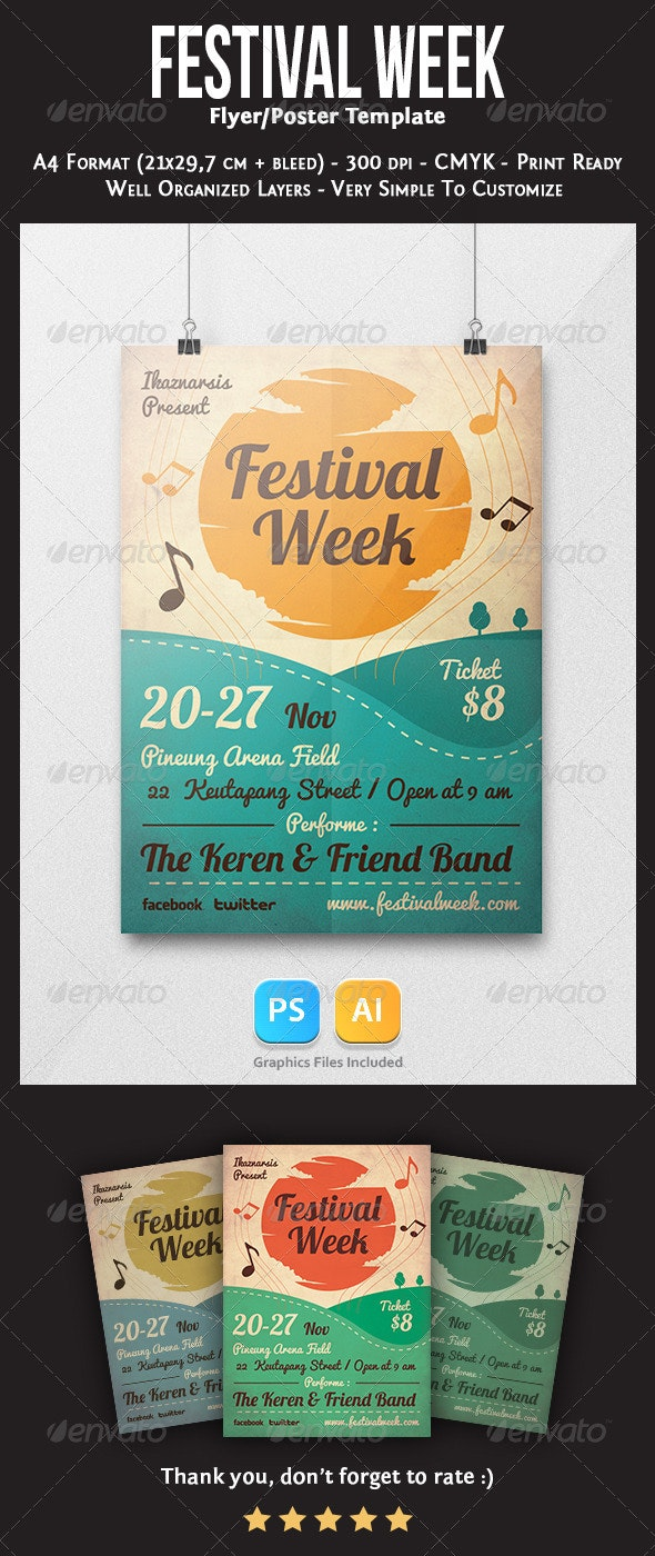 Festival Week Flyer Template - Concerts Events