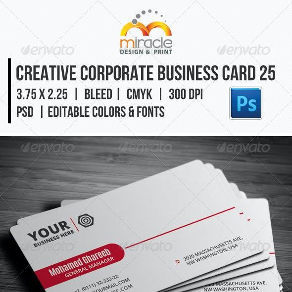 Creative Corporate Business Card 25