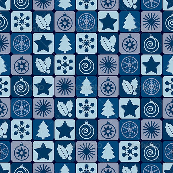Blue Christmas Patterns
