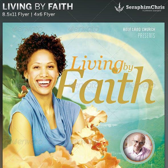Living by Faith: Church Flyer Template