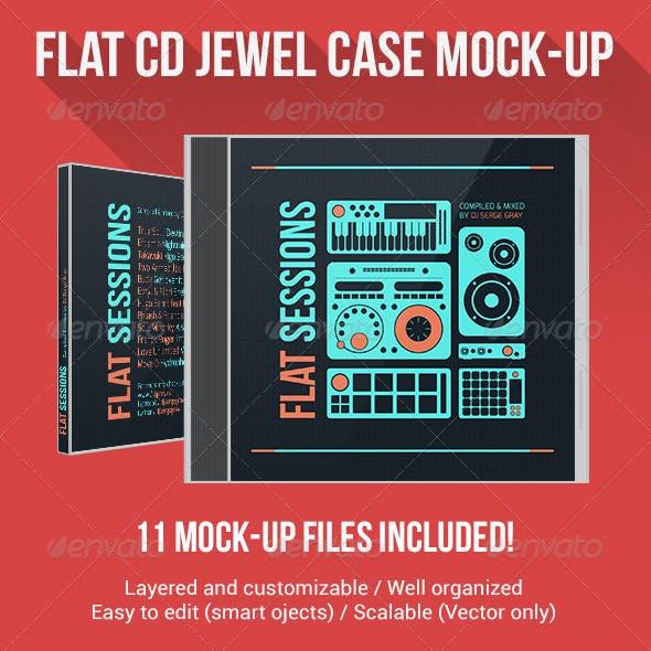 Flat CD Jewel Case Mock-Up