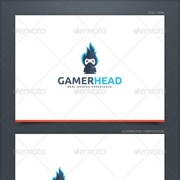 Gamer Head Logo Template