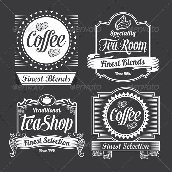 Chalkboard Calligraphy Banners and Labels