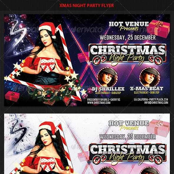 Xmas Night Party Flyer
