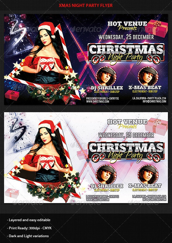 Xmas Night Party Flyer - Clubs & Parties Events
