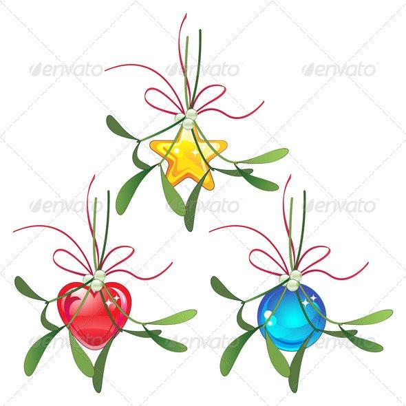 Mistletoe and Christmas bauble set - Christmas Seasons/Holidays