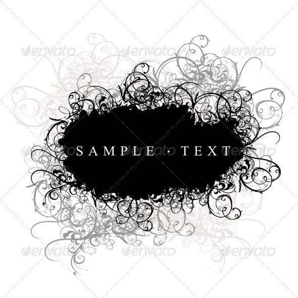 Lace Curves Black And White Banner - Abstract Conceptual