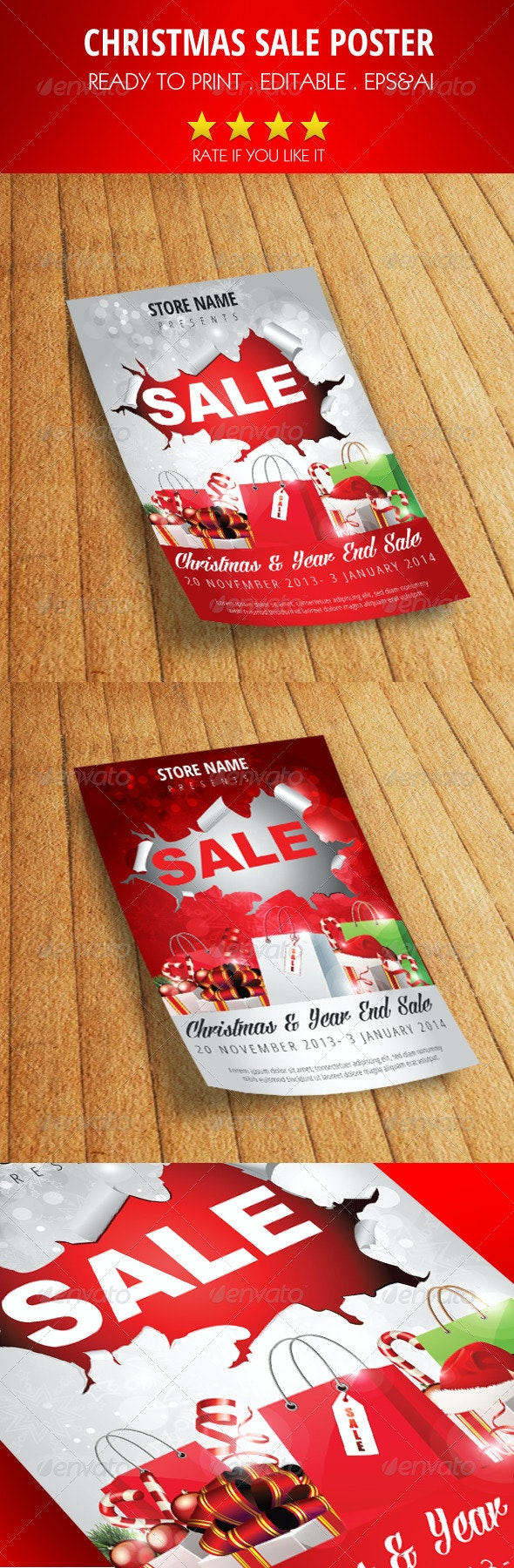 Christmas Sale Flyer/Poster - Holidays Events