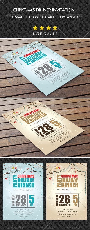 Christmas Party Invitation 3 - Invitations Cards & Invites