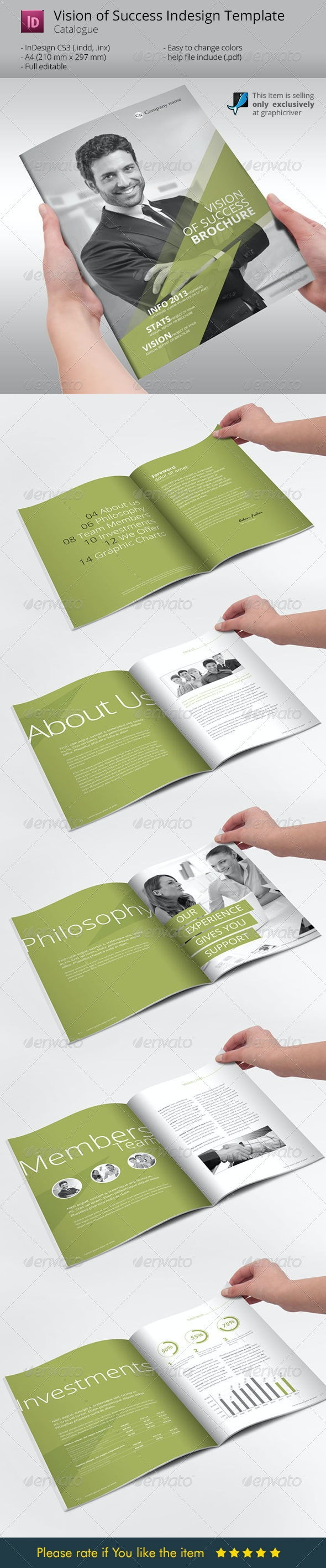 Vision of Success Indesign Template Brochure - Corporate Brochures