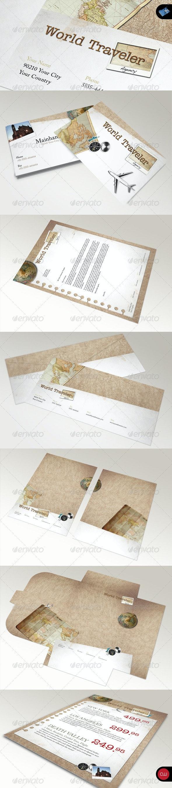 Retro Stationary Template - Vol.1 - Stationery Print Templates