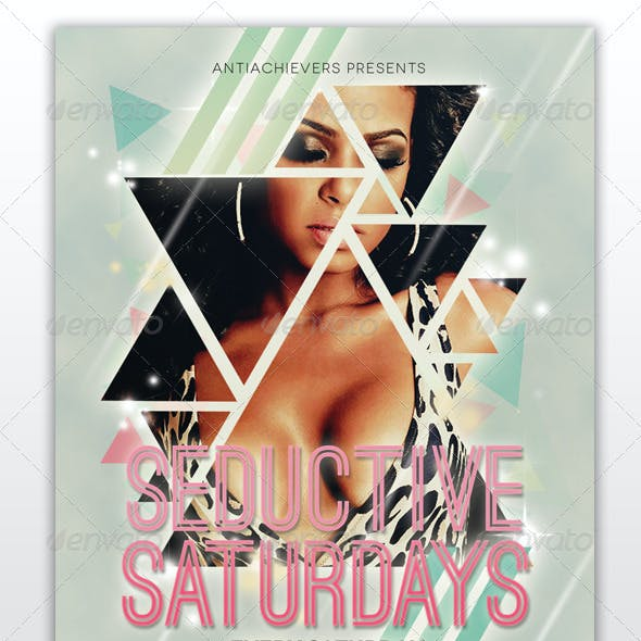 Seductive Saturdays Party Flyer