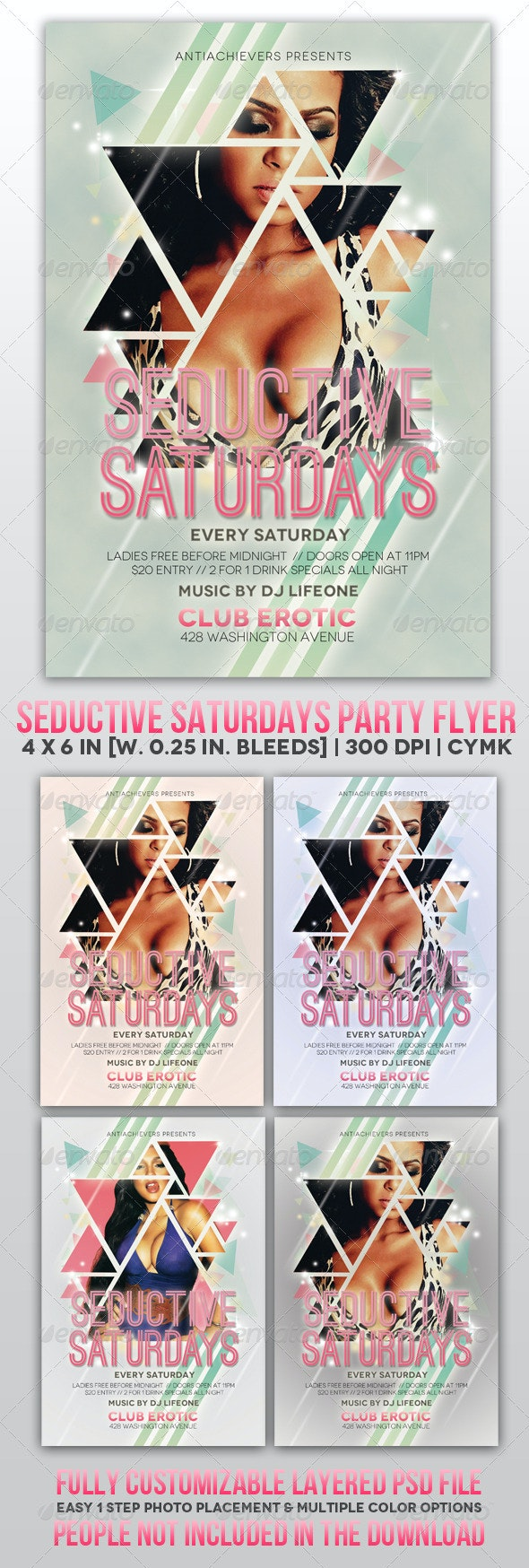 Seductive Saturdays Party Flyer  - Clubs & Parties Events